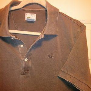 Lacoste Shirts - 90s LACOSTE silver gator , vintage washed polo